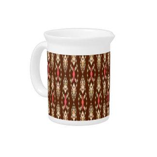 Stammes- Batik - Brown, TAN und Koralle Getränke Pitcher