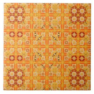 Stammes- Batik - Schatten des Bernsteines und des Keramikfliese