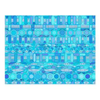 Stammes- Batik - Schatten des Blaus Postkarten
