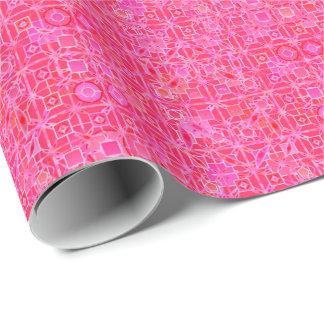 Stammes- Batik - Schatten des pinkfarbenen Rosas Geschenkpapier