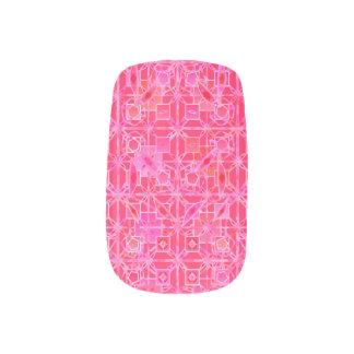 Stammes- Batik - Schatten des pinkfarbenen Rosas Minx Nagelkunst