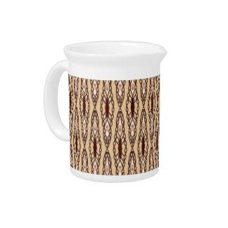 Stammes- Batik - TAN, dunkles Brown und Creme Getränke Pitcher