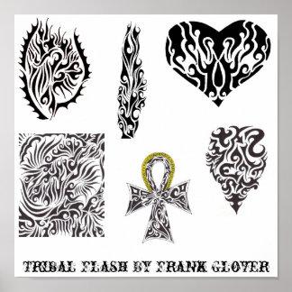 Stammes- Blitz der Sammlungs-1 durch FrankGlover Poster
