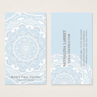 Stammes- böhmischer Mandala, der Shabby Chic-Blau Visitenkarte