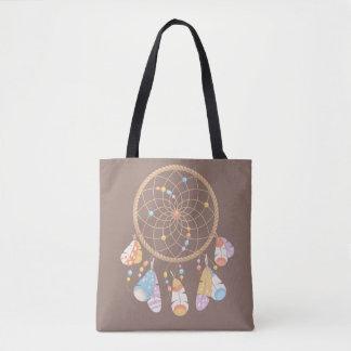 Stammes- Boho Dreamcatcher auf Brown Tasche