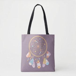 Stammes- Boho Dreamcatcher auf Lila Tasche