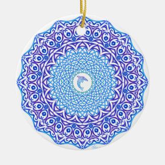 Stammes- Delphin-Mandala Keramik Ornament