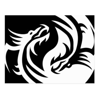 Stammes- Drachen Yin Yang (fertigen Sie es!) Postkarten