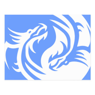 Stammes- Drachen Yin Yang (personifizieren Sie Postkarte