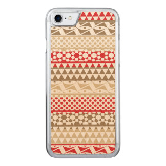 Stammes- Druck-Muster Navajo-geometrisches Carved iPhone 8/7 Hülle