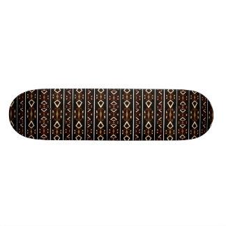 Stammes- dunkles aztekisches Muster Skate Board