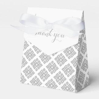 Stammes- eckiges graues Weiß dankt Ihnen Geschenkschachtel
