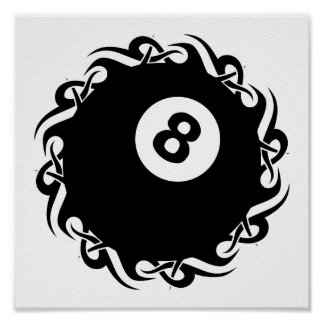 Stammes- eightball poster