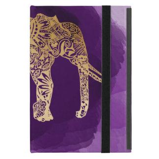 Stammes- Elefant der Imitatgoldfolie lila Hülle Fürs iPad Mini