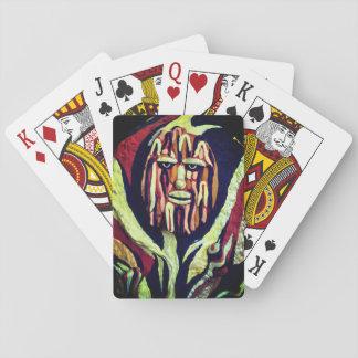 Stammes- Entwurf - lustig und mürrisch Spielkarten