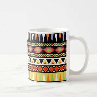 Stammes- Entwurfs-Azteke-inspiriertes Muster Kaffeetasse
