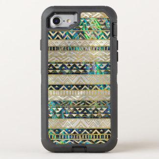 Stammes- ethnisches Muster-Gold auf OtterBox Defender iPhone 8/7 Hülle
