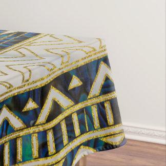 Stammes- ethnisches Muster-Gold auf Tischdecke