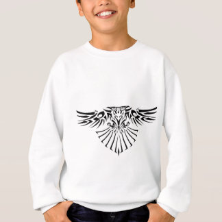 Stammes- Falke-Tätowierungs-Entwurf Sweatshirt
