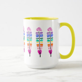 Stammes- Feder-Tasse. Tasse