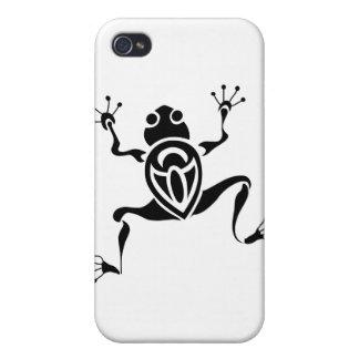 Stammes- Frosch-Tätowierung iPhone 4 Etuis