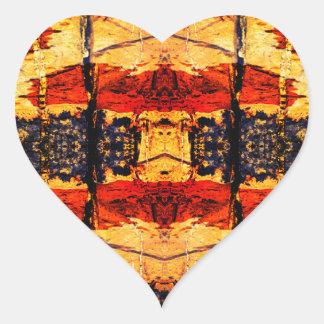 Stammes- Fusion Herz-Aufkleber