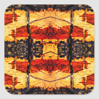 Stammes- Fusion Quadratischer Aufkleber