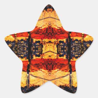 Stammes- Fusion Stern-Aufkleber