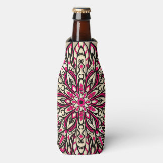 Stammes- geometrische rosa Mandala Flaschenkühler