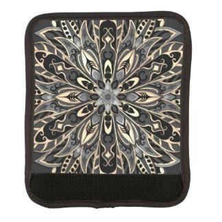Stammes- geometrische schwarze und braune Mandala Gepräckgriffwickel