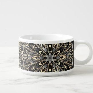 Stammes- geometrische schwarze und braune Mandala Kleine Suppentasse