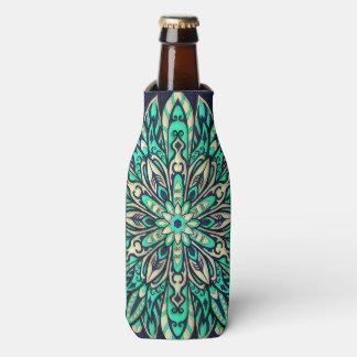 Stammes- geometrischer aquamariner und blauer flaschenkühler