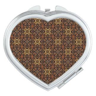 Stammes- geometrischer Druck Taschenspiegel