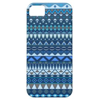 Stammes- gestreifter abstrakter Musterentwurf iPhone 5 Hüllen
