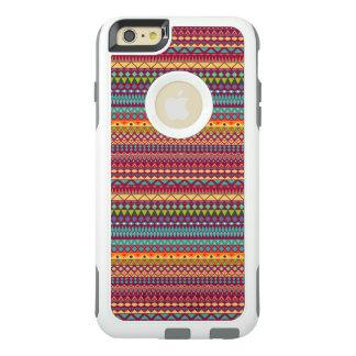 Stammes- gestreifter abstrakter Musterentwurf OtterBox iPhone 6/6s Plus Hülle
