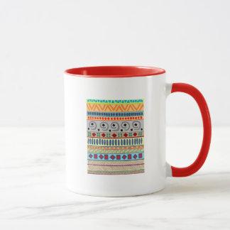 Stammes- große Wecker-Tasse Anden Tasse