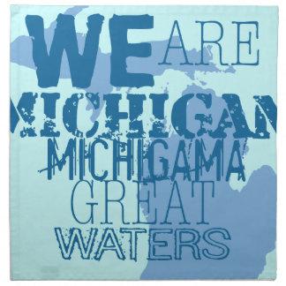 Stammes- großes Wasser Michigans Michigama Up Stoffserviette
