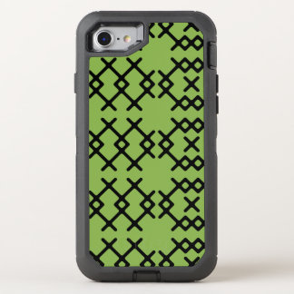 Stammes- Grün grünen Nomade-geometrische Formen OtterBox Defender iPhone 8/7 Hülle