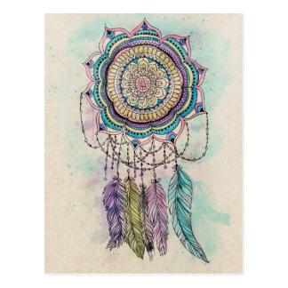 Stammes- Handfarbe dreamcatcher Mandalaentwurf Postkarte
