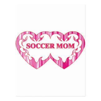 Stammes- Herzpaar-Fußballmamma Postkarte