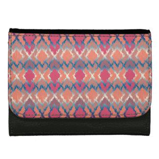 Stammes- Ikat Diamant-Muster rosa blaue