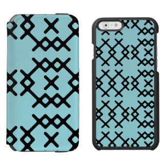 Stammes- Insel-Paradies-blauer Nomade-geometrische Incipio Watson™ iPhone 6 Geldbörsen Hülle