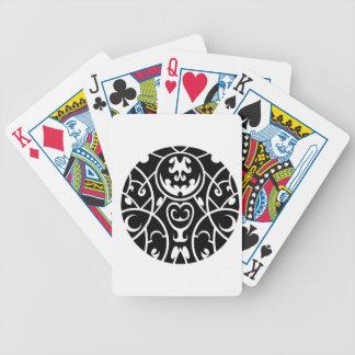 Stammes- Kreiskunst Bicycle Spielkarten