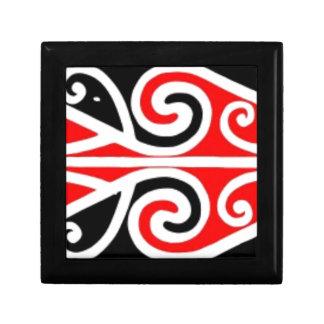 Stammes- Kunst der Maori- Entwürfe für Sie Schmuckschachtel