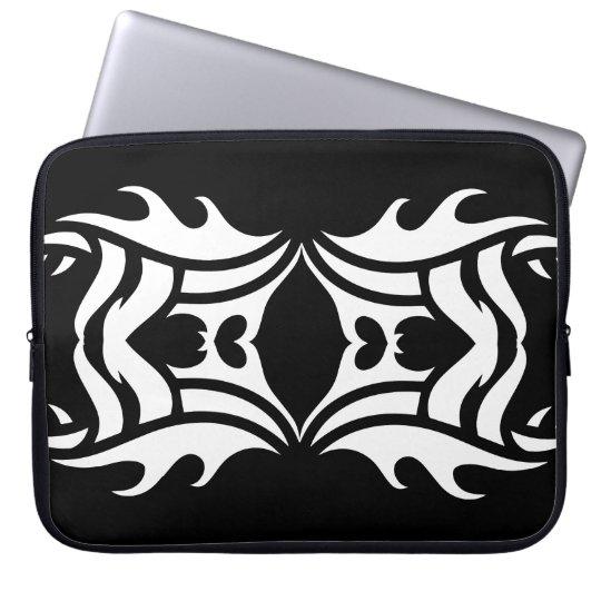 Stammes laptop sleeve 10 whit black zu over
