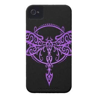 Stammes- Libelle, lila und schwarz iPhone 4 Case-Mate Hüllen