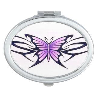 Stammes- lila Schmetterling Schminkspiegel