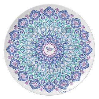 Stammes- Manta-Mandala Teller