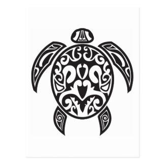 Stammes- Meeresschildkröte Postkarte