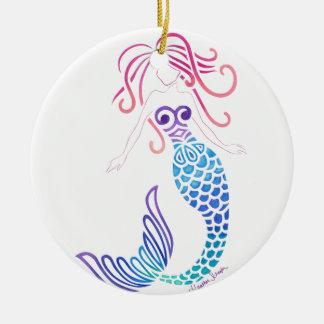 Stammes- Meerjungfrau Keramik Ornament